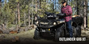 BRP Can-Am Outlander 6x6 650 DPS With Flat Bed kit (2018 м.г.)