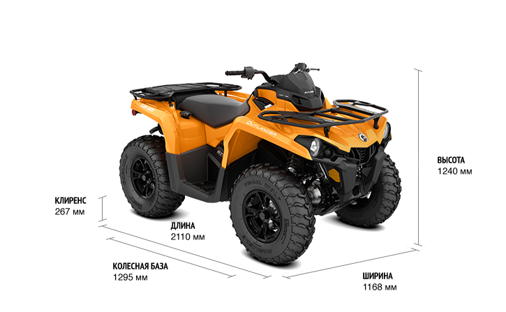BRP Can-Am Outlander 570 DPS (2018 м.г.)
