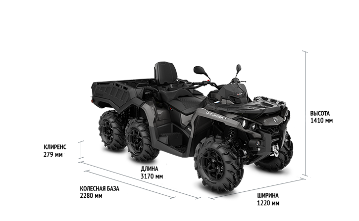 Can-Am Outlander MAX 6x6 650 PRO (2020 м.г.)