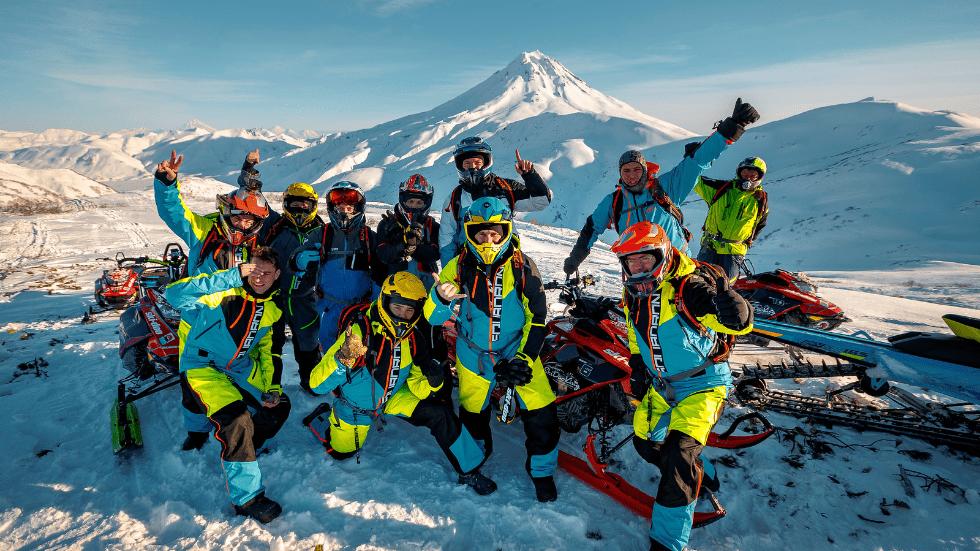 Медиа-тур в школу горного катания на снегоходах SkiDooKing Kamchatka