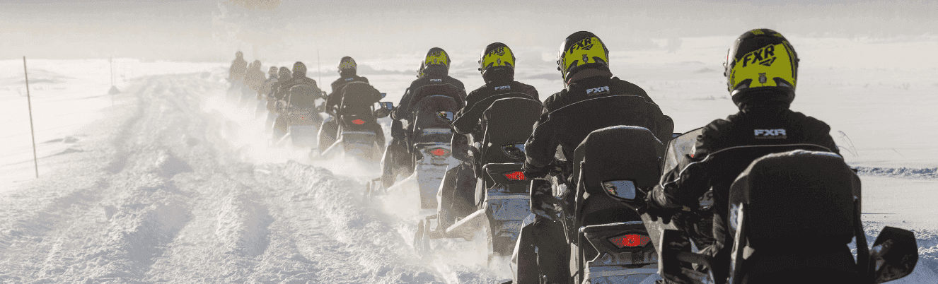 Правила и техника безопасности езды на снегоходе